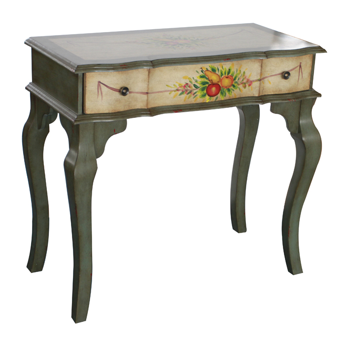梳妆台 仿古手绘实木书台梳妆台(is1657) - 书桌&电脑