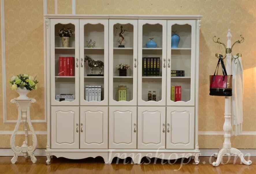 家俬 书桌 电脑台 书柜 书柜 > 维多利亚 实木5门书柜组合 *7呎2 (is