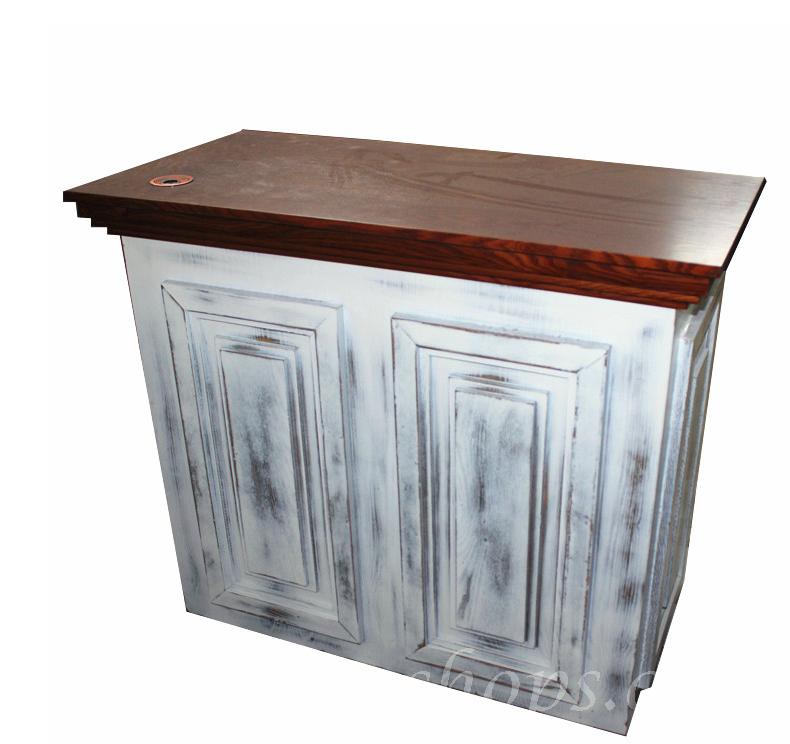 欧式做旧实木 收银柜收银台