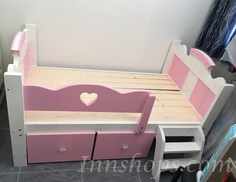 兒童皇國 *全實木兒童*2呎8 可訂做呎吋.子母床 (IS3021)